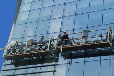 100m - แพลตฟอร์มการเข้าถึงที่ถูกระงับ 300m 220v สำหรับภาพวาดอาคารสูง