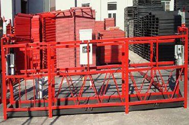 ทำความสะอาดอาคาร Suspended Work Platform Zlp800 ด้วยโหลดที่มีความจุสูงสุด 800 กิโลกรัม