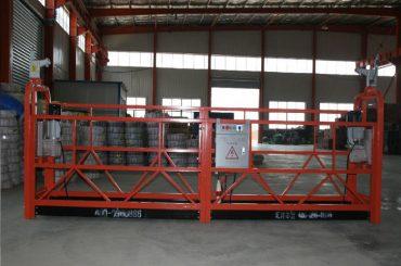 zlp1000 8 - 10 m / min แพลตฟอร์มระเหยที่ปลอดภัยสำหรับการก่อสร้างและบำรุงรักษาอาคาร