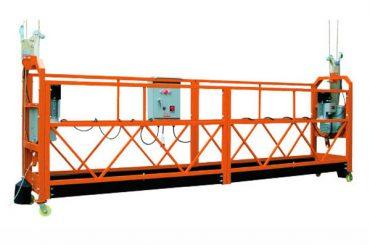 2.5M x 3 ส่วน 1000kg Suspended Access Platform ความเร็วในการยก 8-10 m / min