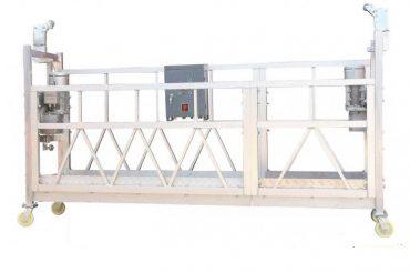 เหล็กทาสีอลูมิเนียมชุบสังกะสีร้อน ZLP630 แพลตฟอร์มทำงานที่ถูกระงับการทาสีอาคาร