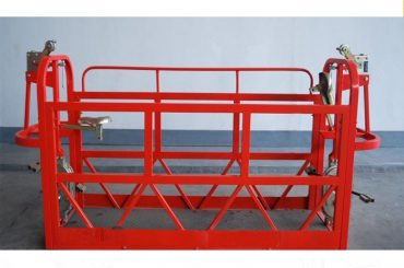 800kg ทาสี / อลูมิเนียมระงับการเข้าถึงแพลตฟอร์มมอเตอร์ไฟฟ้า 1.8kw แพลตฟอร์มนั่งร้าน