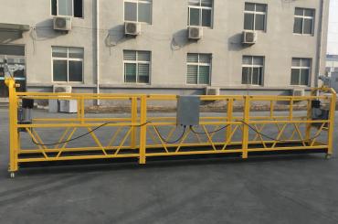 CE ได้รับการรับรอง zlp630 อลูมิเนียมไฟฟ้าแขวนเรือกอนโดลาสำหรับการก่อสร้าง